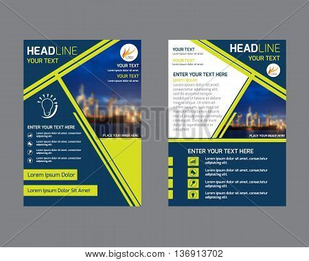 annual report brochure flyer design template. Leaflet cover presentation abstract flat background layout in A4 size.
