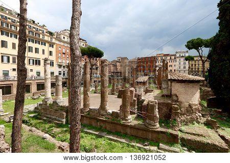 ancient ruines, largo argentina, rome , italy