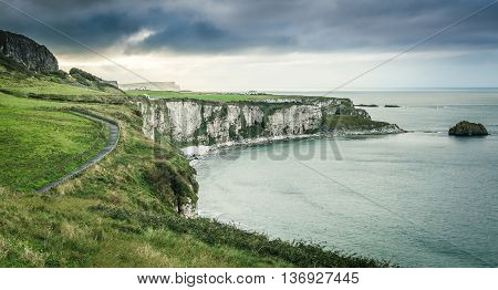Scenic Coastal View With Pathway
