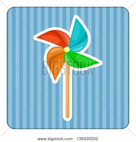 Vector Illustration. Paper Windmill Pinwheel