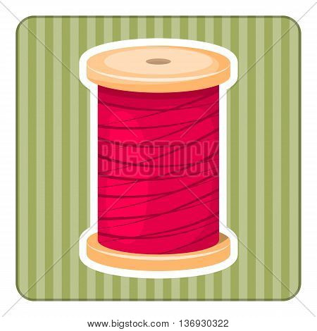 Reel With Thread, Vector Illustration