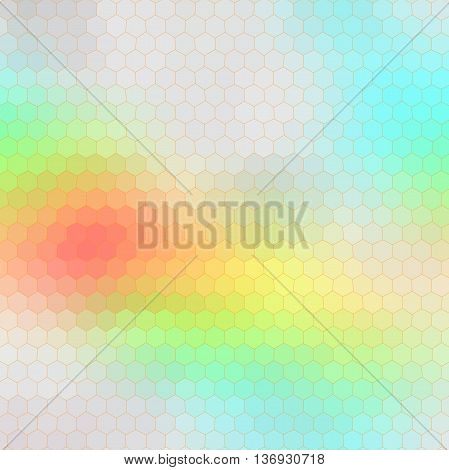 Hexagon polygonal mosaic background. Vector illustration. Heaven.