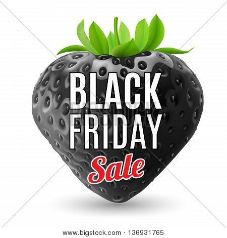 Black Friday discounts increasing consumer growth. Black strawberry