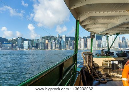 Hong Kong ferry at day time