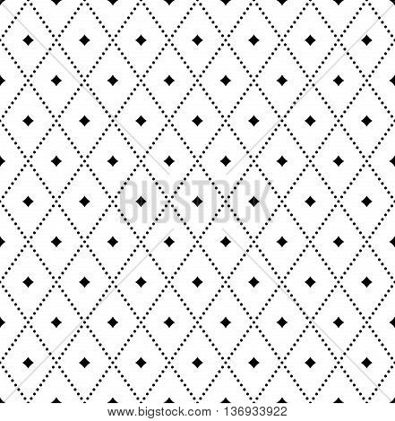 Geometric repeating vector pattern. Seamless abstract modern texture for wallpapers and backgrounds. Black and white pattern