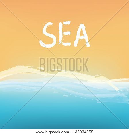 Sea and sand abstract background design vector illustration
