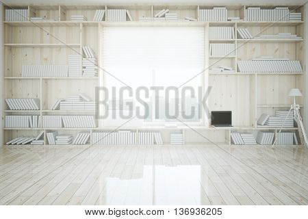 Interior With Built-in Bookcase