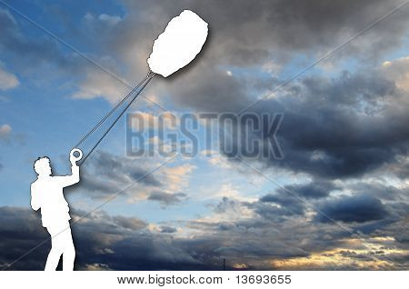 Clouds and kite flight