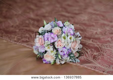 beautiful wedding bouquet close up. wedding flowers.