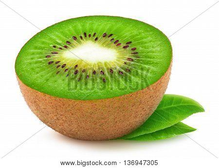 Isolated Kiwi Fruit Half