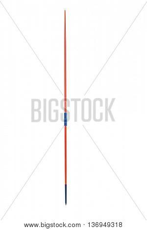 Javelin on isolated white background