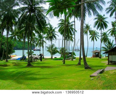 The beautiful landscape at Mu Ko Ang Thong National Marine Park in Thailand. Asia.