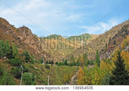 Mountains in the South of Almaty are very beautiful