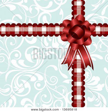 Ribbon decoration background