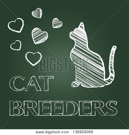 Cat Breeders Indicates Pet Offspring And Breeding