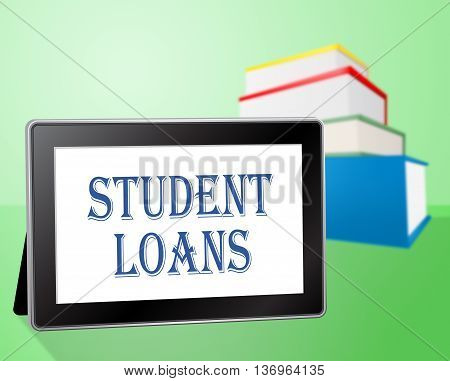 Student Loans Represents Www Lends And Students