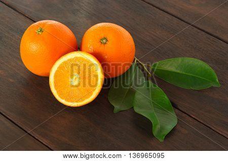 One half of tangerine orange fruit ready to eat immediately.