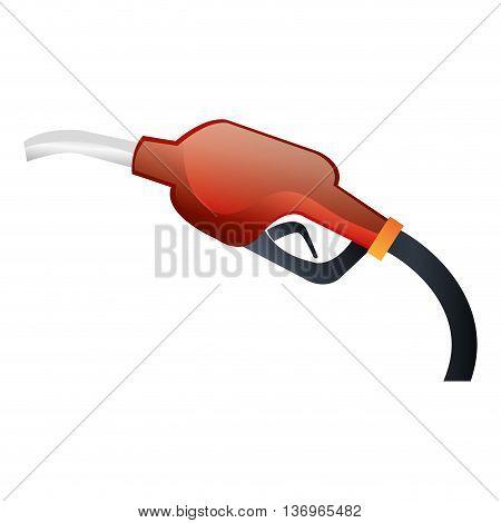 Gasoline Hand dispenser isolated icon on white background, vector illustration.