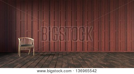 Thai style carved wooden partition wall 3d rendering
