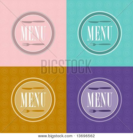 Set Of Menu Card Designs