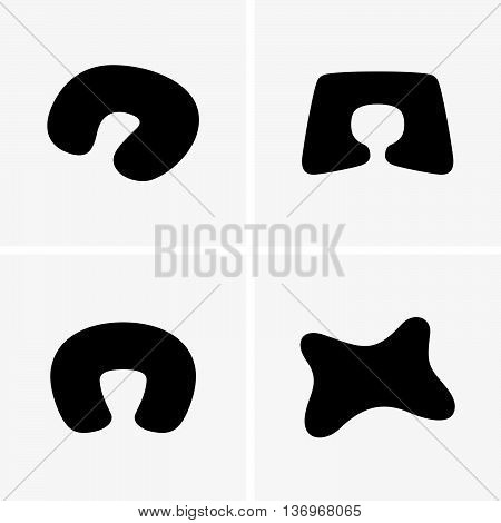 Set of four neck pillows ( shade pictures )