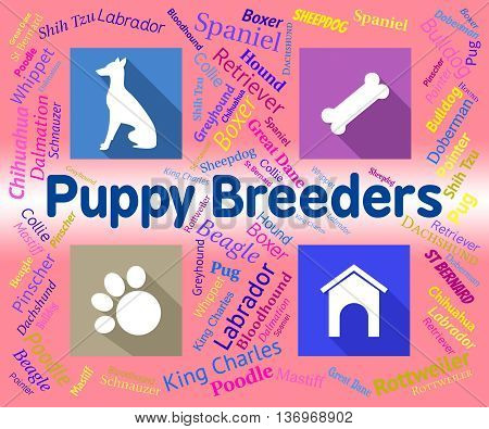 Puppy Breeders Indicates Doggy Mating And Pets