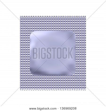 Condom package or condom wrapper isolated on white background. 3d illustration. Contraceptive method