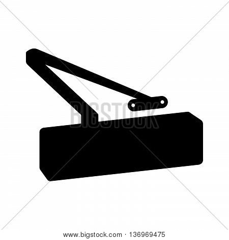 Door closer ( shade picture ) on white background