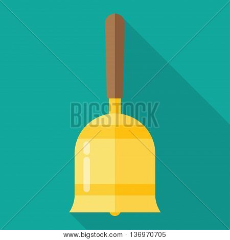 Gold vintage retro bell isolated on white