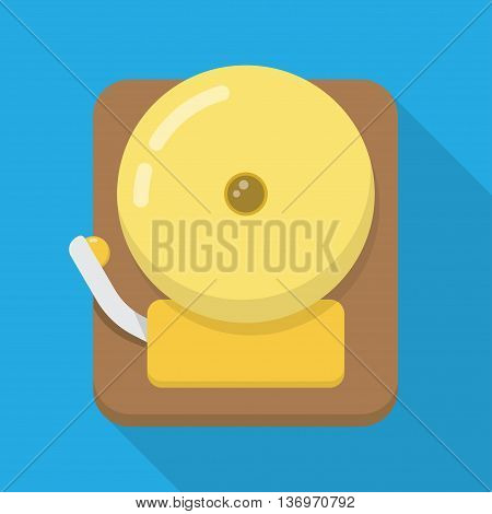 Alarm Icon. Isolated illustration with long shadow