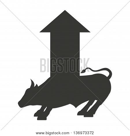 stock bull isolated icon design, vector illustration  graphic