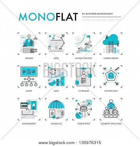 Business Management Monoflat Icons