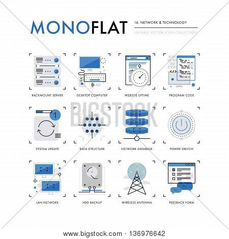 Network Technology Monoflat Icons