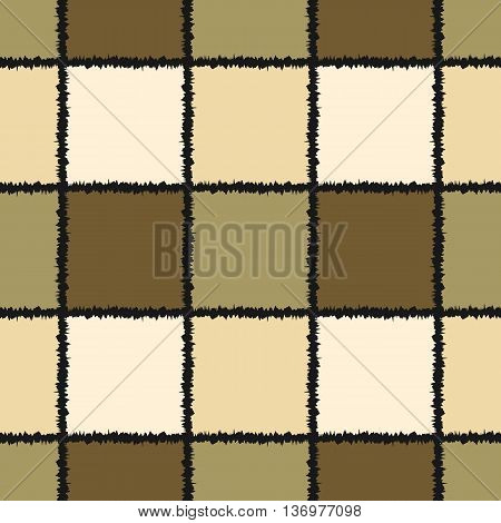 Background seamless pattern of colored cells with ragged edges.