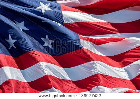 Fort Mchenry Baltimore Usa Flag While Waving