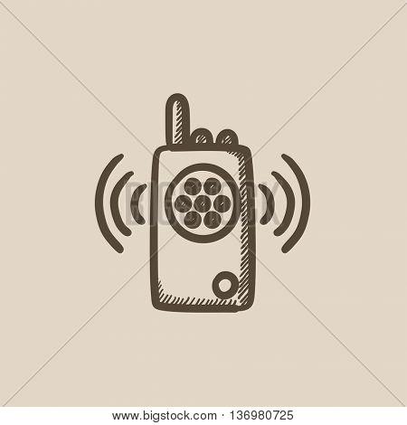 Radio set vector sketch icon isolated on background. Hand drawn Radio set icon. Radio set sketch icon for infographic, website or app.