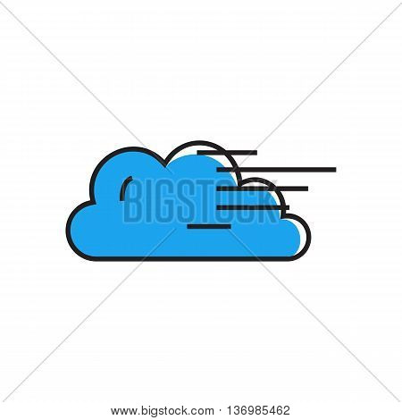 Cloud and fog illustration. Cloudy and foggy weather, climate, weather forecast. Weather concept. Can be used for topics like weather, climate, meteorology, weather forecast