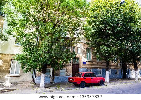 Old Lviv The streets and houses and car of the old town. Picture taken during a trip to Lviv. UKRAINE