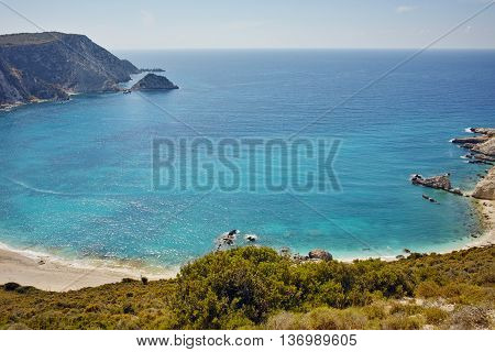 Amazing Paorama of Petani Beach, Kefalonia, Ionian Islands, Greece