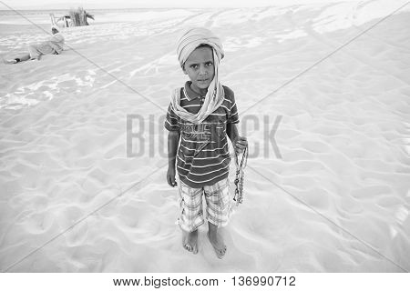 Tunisian Boy In Ong Jemel, Tozeur, Tunisia