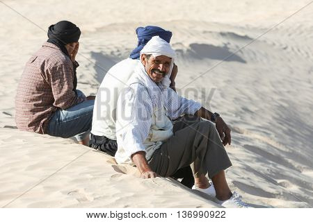 Bedouins In Sahara