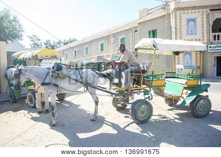 Muslim Man In Carriage