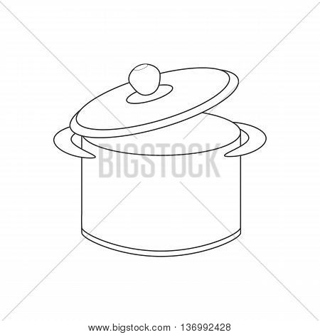 Saucepan illustration path on the white background. Vector illustration