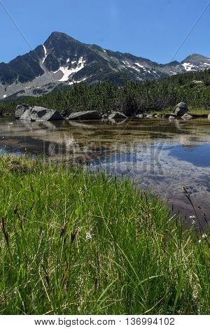 Landscape of Sivrya peak and Banski lakes, Pirin Mountain, Bulgaria