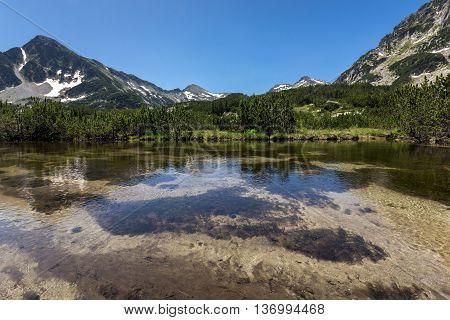 Amazing view of Sivrya peak and Banski lakes, Pirin Mountain, Bulgaria