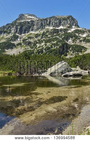 Landscape of Dzhangal peak and Banski lakes, Pirin Mountain, Bulgaria