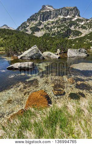 Amazing Landscape of Dzhangal peak and Banski lakes, Pirin Mountain, Bulgaria