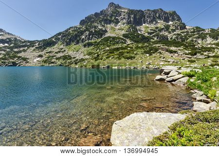 Amazing landscape of Dzhangal peak and Popovo lake, Pirin Mountain, Bulgaria