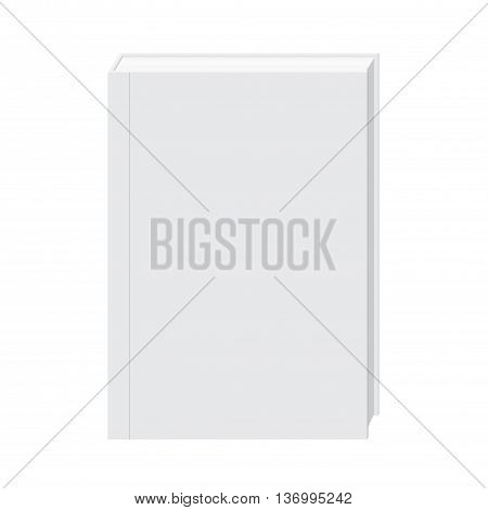 Blank Hardcover White Book Stand Mock Up Vector. Mock Up Concept.
