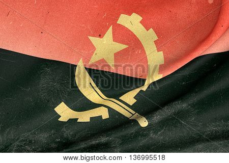 Republic Of Angola Flag Waving